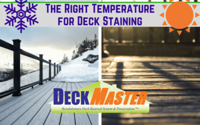 The Right Temperature for Deck Staining