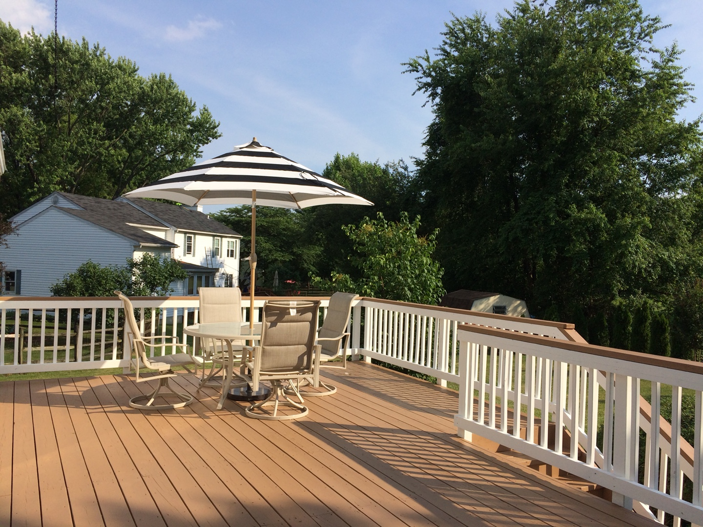 how often to stain wood deck