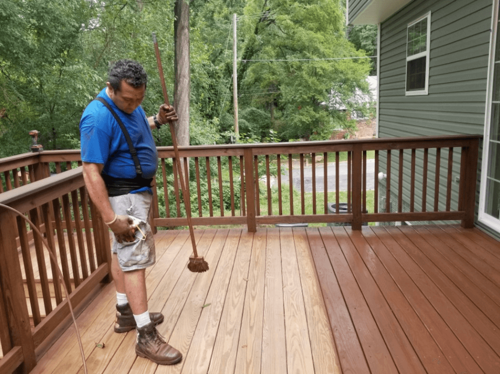 deck staining company gaithersburg md