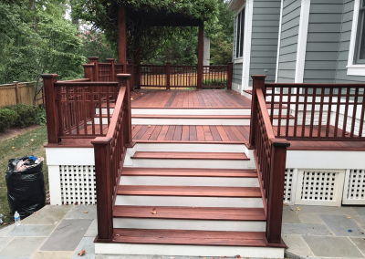 brown and white wood deck virginia