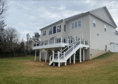 white deck with stairs virginia 2