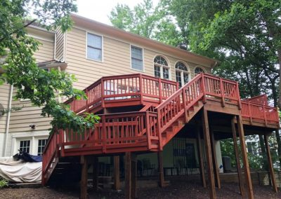 before picture of cherry red deck gaithersburg md
